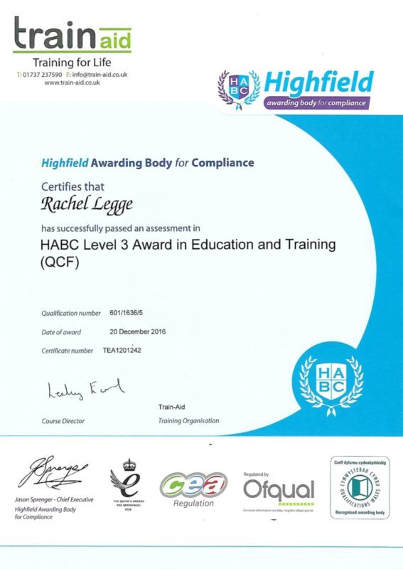 level 3 award in education and training The level 3 award in education and training is not a teaching qualification - it is an introduction to teaching that will give an insight into the roles, responsibilities and relationships in education and training, how.
