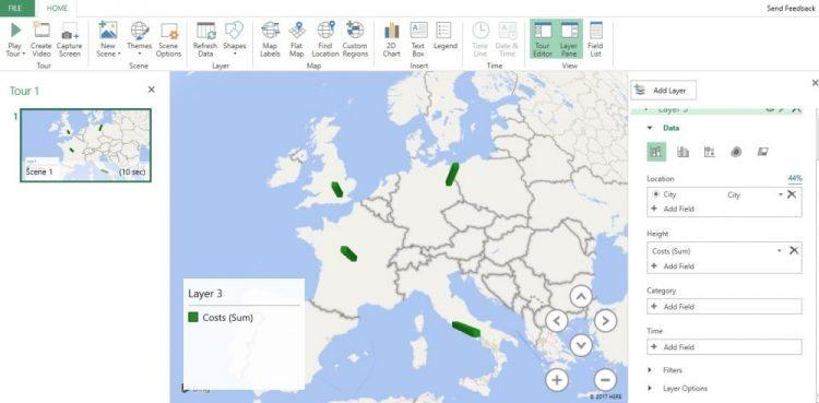 3D Map screen shot insert tab