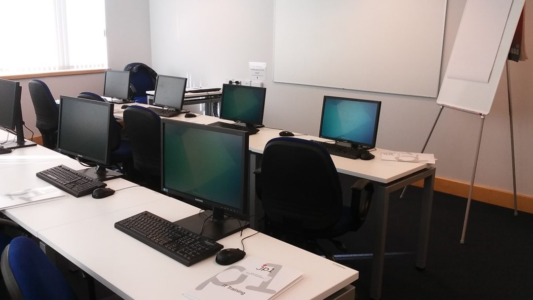 Training room at AFH Wealth Management - Microsoft Excel courses