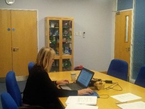 Access Database Training at MonoSol in a training room