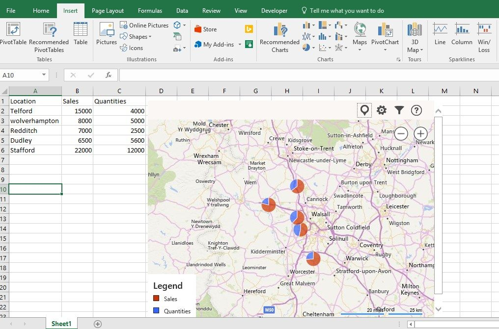 Excel exposure - Colour in Excel Maps Add in