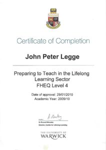 PTLLS FHEQ Level 4 Qualification - Microsoft Office Training Word: Worcestershire, Warwickshire, Gloucestershire, Birmingham, West Midlands from JPL