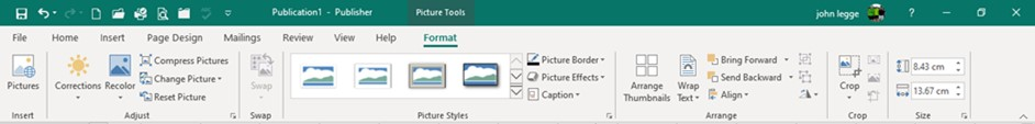 Publisher Basics Pictures - Format Tab for Pictures