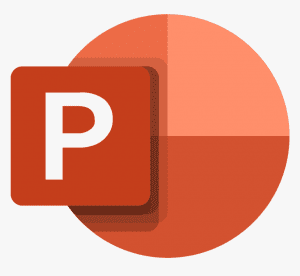 Inserting text boxes in PowerPoint: PowerPoint icon