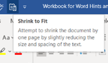 6 MS Office shortcuts: shrink to fit in Word