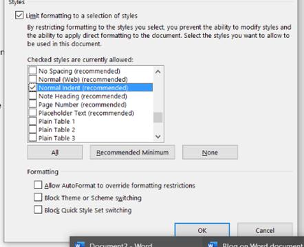 Restrict editing step 1 choosing editing options